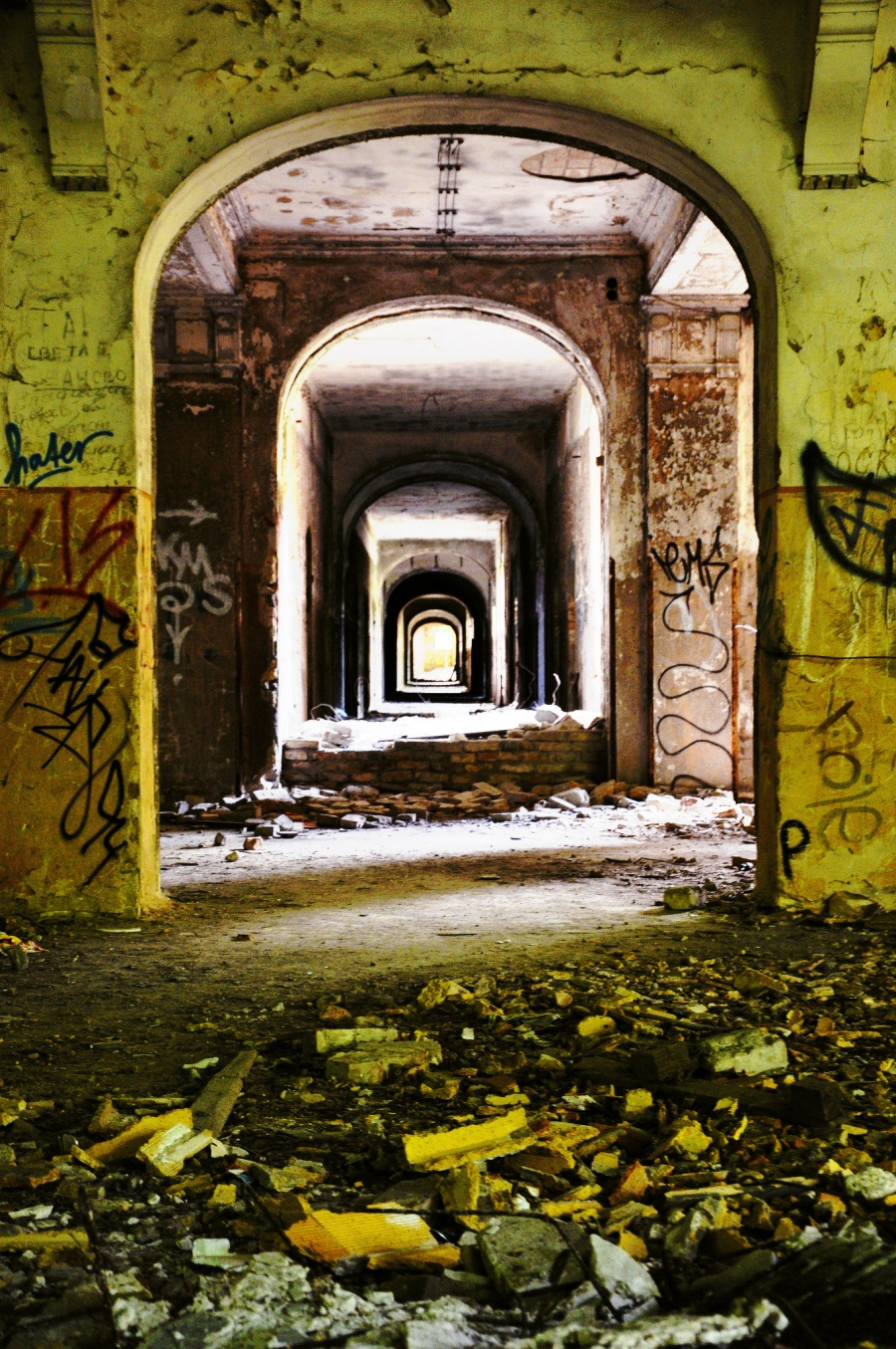 flickr celine181 abandoned corridors